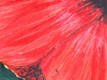 """Scarlet Rain"" - DETAIL 1, oil on canvas - 44.5 x 38 cm, 2008"