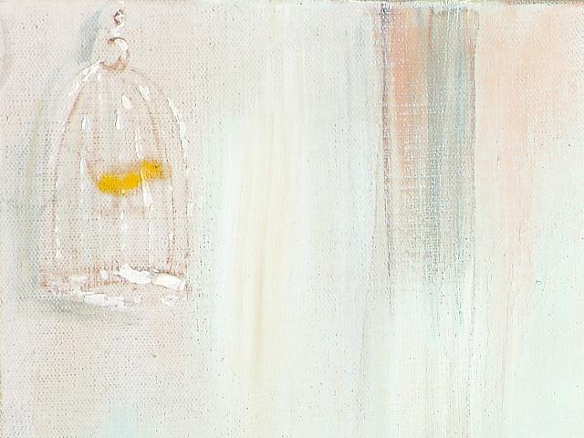 """Silk"" - DETAIL 4, oil on canvas - 50 x 100 cm, 2003"
