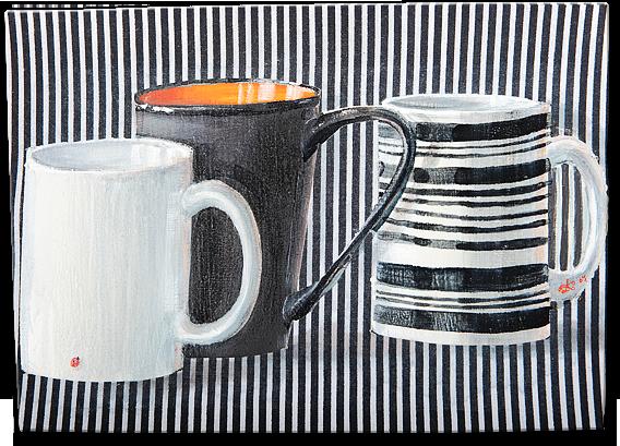 """""""Tea II"""", oil on canvas - 25 x 35 cm, 2007"""