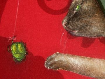 """Honey"" - DETAIL 1, oil on canvas - 75 x 75 x 75 cm, 2010"