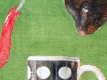 """Tea"" - DETAIL 1, oil on canvas - 60 x 60 cm, 2010"
