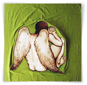 """Heartbreaker"" - Angel With Crying Wings, oil on canvas - 157 x 149 cm, 2012"