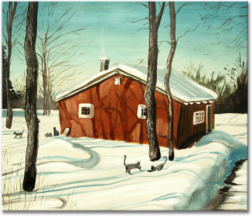 """Winter II"", oil on canvas - 72 x 86 cm, 2012"