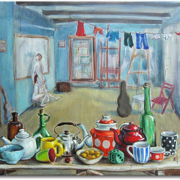 """""""Tea Party"""", oil on canvas - 70 x 80 cm, 2014"""